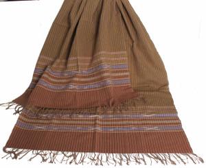 Meditation Shawl - Hand-Loomed Ikat Pattern - Pure Organic Cotton 9