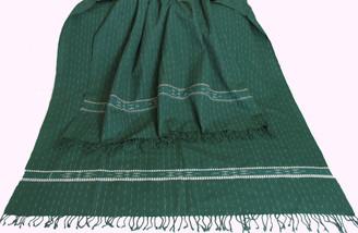 Meditation Shawl - Hand-Loomed Ikat Pattern - Pure Organic Cotton 4