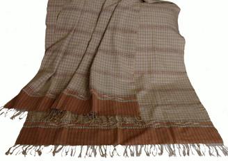 Meditation Shawl - Hand-Loomed Ikat Pattern - Pure Organic Cotton 2
