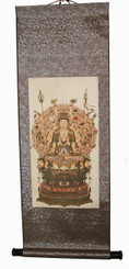 Quan Yin Silk Scroll - Thousand Arm Attributes of Compassion