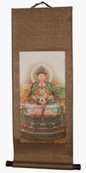 Quan Yin Silk Scroll - Quan Yin Holding Buddha Globe