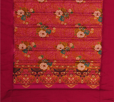 Yoga Mat - Quilted 100% Polished Cotton Prints - Cranberry