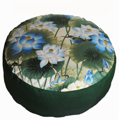 Zafu Combination Fill Meditation Cushion - Limited Edition - Lotus Sanctuary Collection