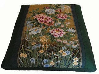 "Meditation Cushion Floor Mat - Limited Edition Zabuton ""Peony Garden"""