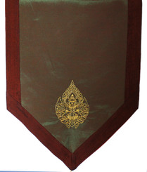 Altar Cloth - Embroidered  - Guardian Angel - Rust Brown