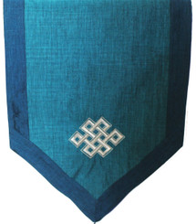 Altar Cloth - Embroidered  - Eternal Knot - Teal