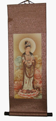 Quan Yin Silk Scroll Antique Painting Reproductions - Quan Yin Holding Blessing Water