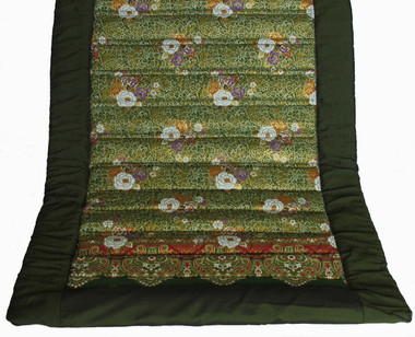 Yoga Mat - Quilted 100% Polished Cotton Print - Yoga Mat - Green
