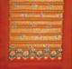 Yoga Mat - Quilted 100% Polished Cotton Prints: Yoga Mat - Tangerine Saffron