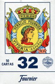 Spanish Card Deck, No. 32, Blue Back
