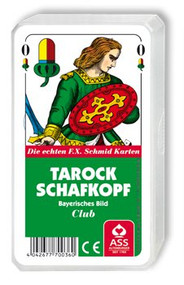 Tarock/Schafkopf Card Deck, Bavarian Pattern, Plastic Case
