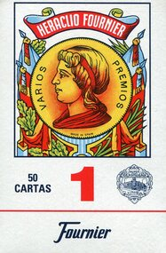 Baraja Española, No. 1, 50 Cards, Red Back