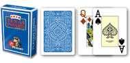 Texas Poker Card Deck, Jumbo Index, 100% Plastic, Blue Back