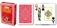 Texas Poker Card Deck, Jumbo Index, 100% Plastic, Red Back