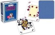Poker Card Deck, 4-Corner Mini-Index, 100% Plastic, Blue Back