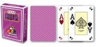 Poker, 4-Corner Mini-Index, 100% Plastic, Violet Back