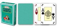 Poker, 4-Corner Mini-Index, 100% Plastic, Green Back