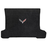C7 Corvette Stingray (Coupe) Cargo Mat  - Lloyds Mats with C7 Crossed Flag: Ultimat Jet Black