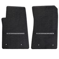 Camaro 2010-2015 2 Piece Floor Mats - Lloyds Mats with Camaro Logo Script:  Ultimat Jet Black