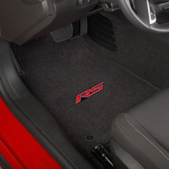 Camaro 2010-2015 2 Piece Floor Mats - Lloyds Mats with RS Logo Script: Ultimat Jet Black