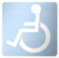 Handicapped Inside Window Decal Sticker