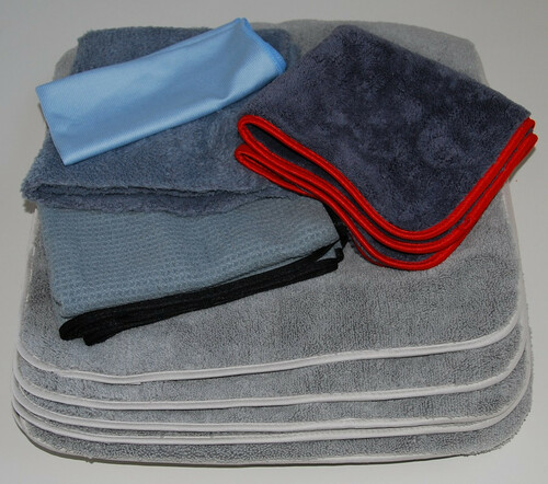 Micro Fiber Auto Detailing Towel Set Approved by Glen E