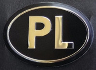 Poland Polish Black PL Country Decal Badge