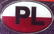 Polish Poland Resin PL Country Decal Badge