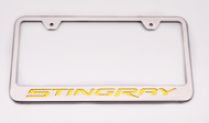 2014-2016 Custom Corvette C7 Stingray - License Plate Frame with Yellow Stingray Lettering