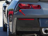 2014-2016 C7 Z06 Corvette Stingray - 2Pc Polished Matrix Series Alumi-Steel Tail Light Grilles by American Car Craft