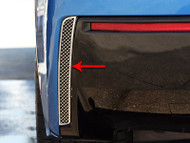2014-2017 C7 Corvette Stingray - 2pc Polished Rear Valance Laser Mesh Vent Grilles