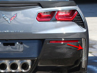 2014-2017 C7 Corvette Stingray - 2Pc Polished Matrix Series Alumi-Steel Rear Valance Vent Grilles