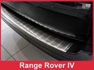 2012-2016 Land Rover Range Rover IV - Brushed Stainless Steel Rear Bumper Protector Guard
