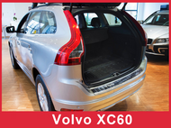 2014-2017 XC60 - Brushed Stainless Steel Rear Bumper Protector Guard