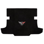 1997-2004 C5 Corvette Coupe Cargo Mat with Crossed Flags Logo  -  Lloyds Mats: Ultimat - Black 600017