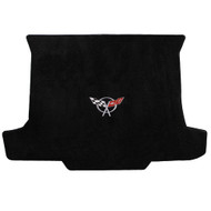 1998-2004 C5 Corvette Convertible Cargo Mat with Crossed Flags Logo - Lloyds Mats Ultimat - Black 600018