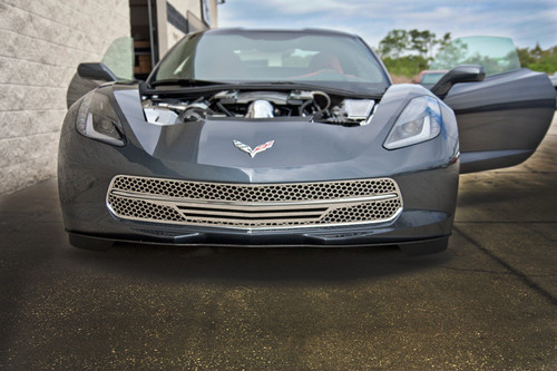 2014-2017 C7 Corvette Stingray - 3pc Retro Matrix Series Front Grille by ACC 052072