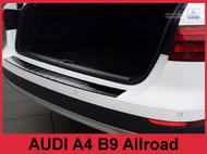 2017+ Audi A4 B9 Allroad- Graphite Stainless Steel Rear Bumper Protector Guard