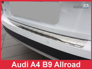 2017+ Audi A4 B9 Allroad- Brushed Stainless Steel Rear Bumper Protector Guard