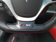 Corvette C7 Z51 Steering Wheel Decal Sticker red and white