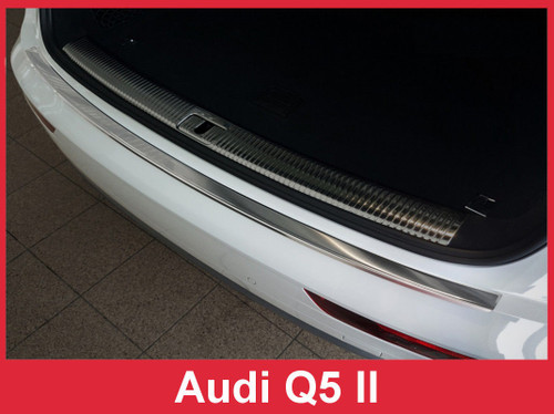 2018 + Audi Q5 II - Stainless Steel Rear Bumper Protector Guard