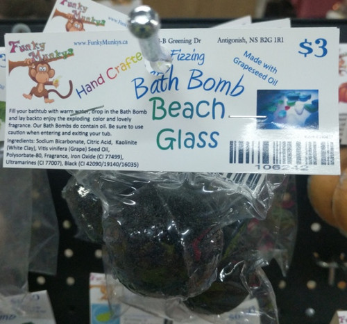 Small Bath Bomb Beach Glass