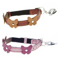 Hamish-McBeth Papillon Leather Cat Collars