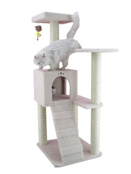 Faux Fleece Cat Tree - 53 Inches