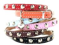 Studded Leather Cat Collars