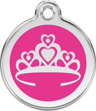 Red Dingo Stainless Steel and Enamel Pet ID Tag - Crown