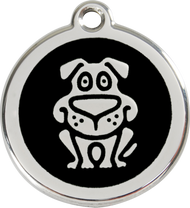 Red Dingo Stainless Steel and Enamel Pet ID Tag - Dog
