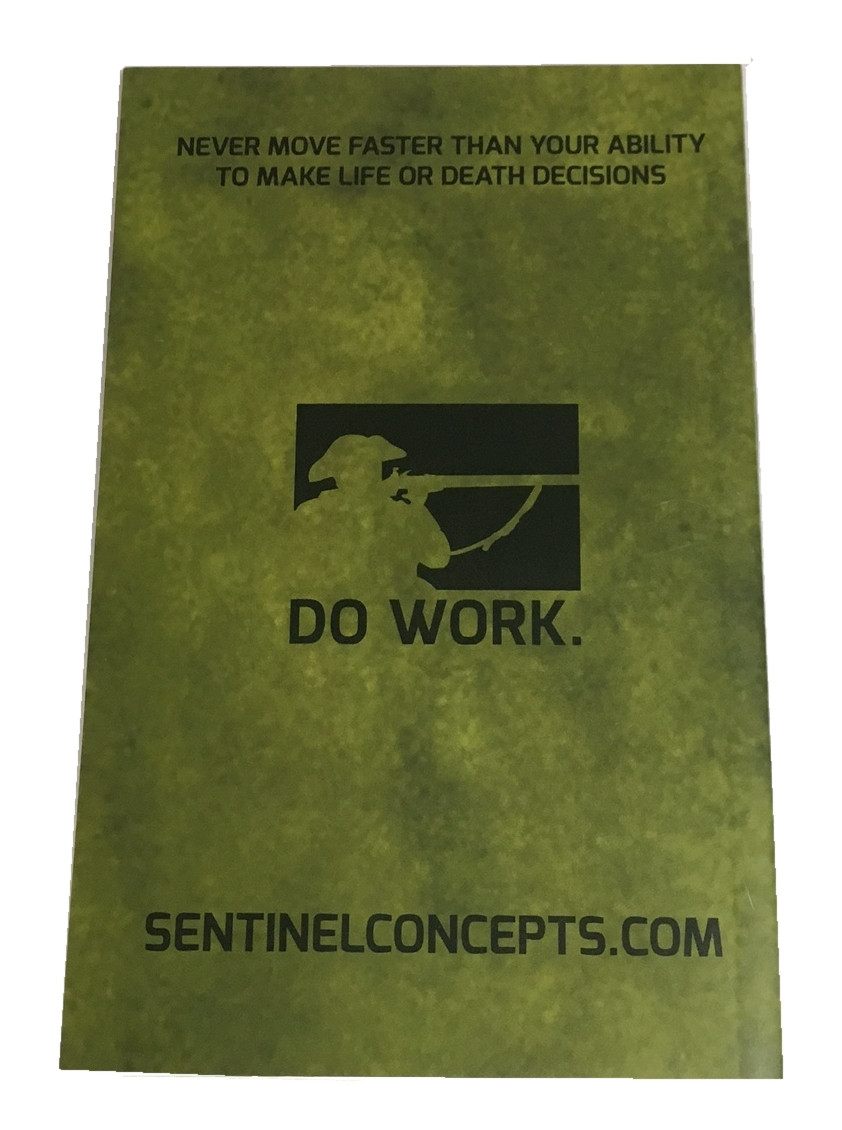 Sentinel Concepts All Weather Range Data Book Back  Cover