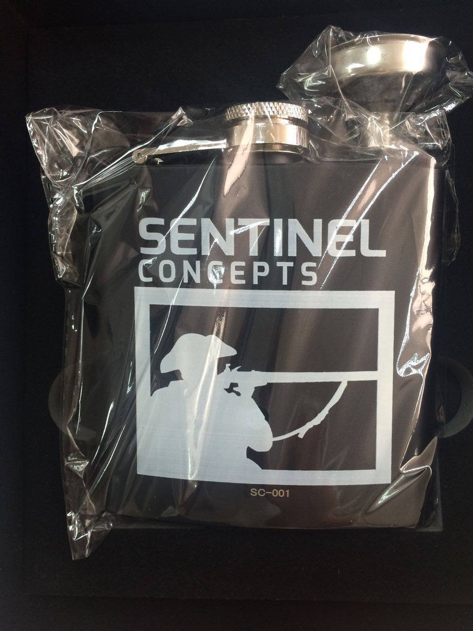 Sentinel Concepts Laser Etched  Elite Collection Flask  Bagged