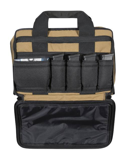 Dual Padded Locking Pistol Pouch Outer Flap